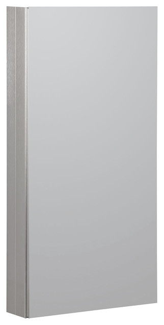 "15""x36"" Aluminum Medicine Cabinet, Brushed Nickel."