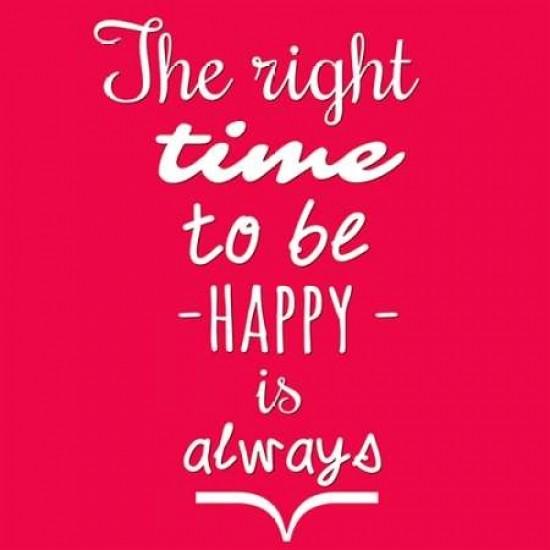 Be Happy Poster Print by Cynthia Alvarez 24 x 24