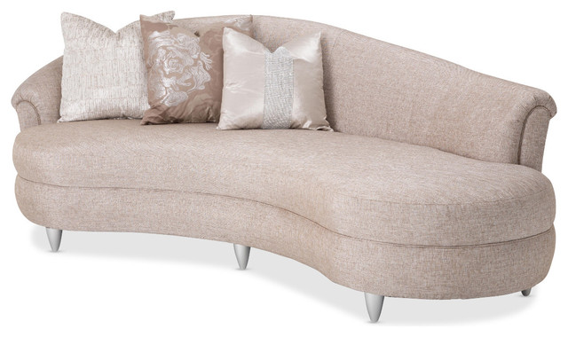 Aico michael amini studio tatiana laf kidney sofa glacier for Aico chaise lounge