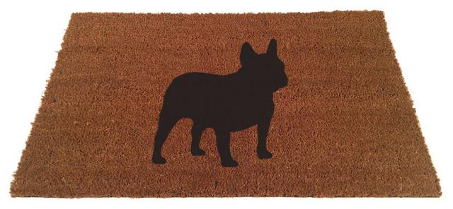 """French Bull Dog Doormat, 18""""x30"""""""