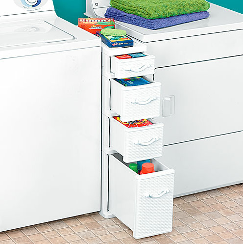 Wicker Between Washer Dryer Drawers - Traditional - Storage And Organization - by Taylor Gifts
