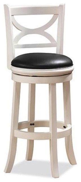 Dune Florence Swivel Counter Stool, Distressed Ivory.