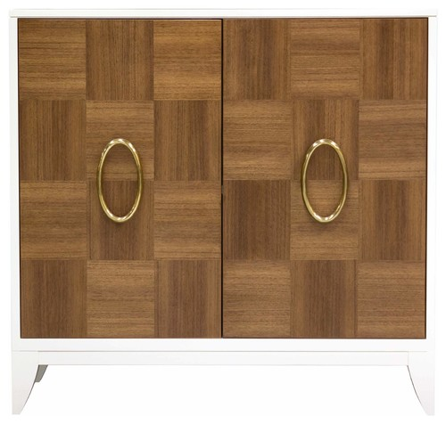 Facets Modern 36 Two-Door Cabinet, Quartered Walnut
