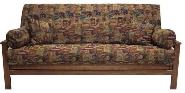 Blazing Needles 5 Pc Tapestry Futon Cover Package Autumn Harvest