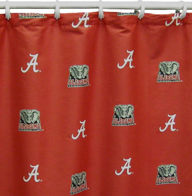 Alabama Crimson Tide Printed Shower Curtain Cover 70 X 72