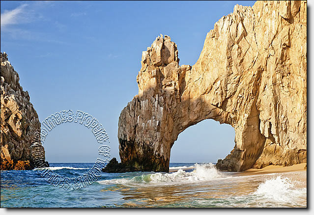 Cabo San Lucas Peel & Stick Canvas Wall Mural by QuickMurals - Beach Style - Wallpaper - by The Home Store