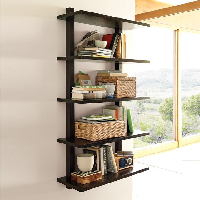 Wall-Mounted Bookcase, Tall - Modern - Display And Wall Shelves - by West Elm