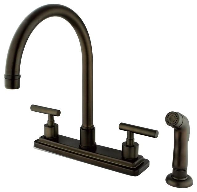 6 KINGSTON BRASS Gourmetier KS7195CFL Century Single Handle Water Filtration Faucet Oil Rubbed Bronze