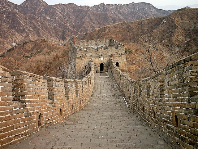 Great wall of china wallpaper wall mural self adhesive for Chinese mural wallpaper