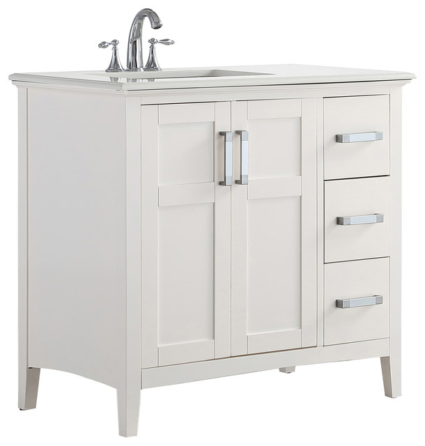 bathroom vanity with offset sink vanity semi recessed sink left offset  faucet 3 4 granite top