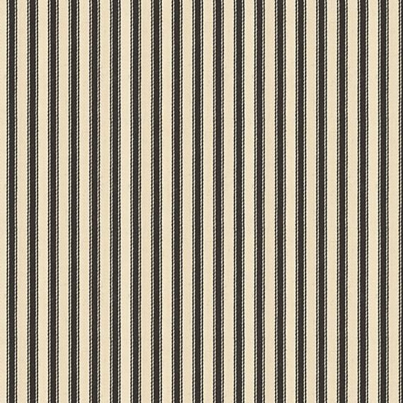 Black Ticking Stripe Woven Fabric