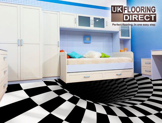 Optical illusion flooring concept modern vinyl flooring by uk