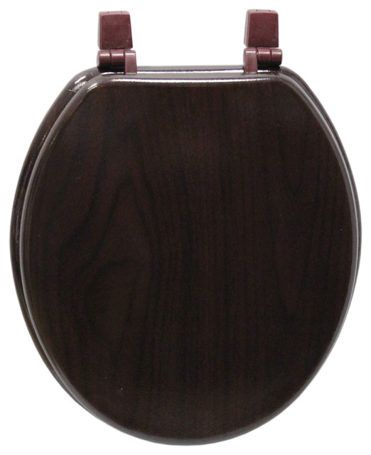 Trimmer Wood Toilet Seat With Wood Grain Painting Cherry