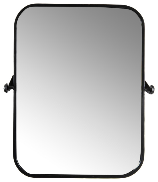 Metal Framed Pivoting Wall Mirror Transitional Bathroom Mirrors By Creative Co Op Houzz