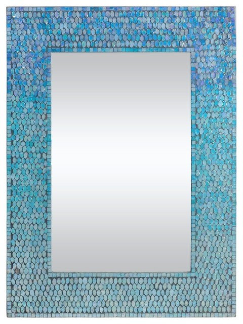 "Catarina 31"" Rectangular Small Mirror, Mosaic."