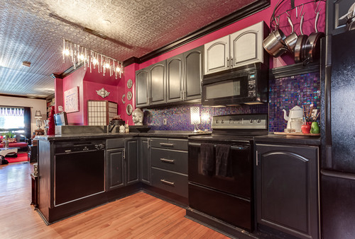 pink kitchen tiles pink kitchen with purple iridescent tiles what should 1503