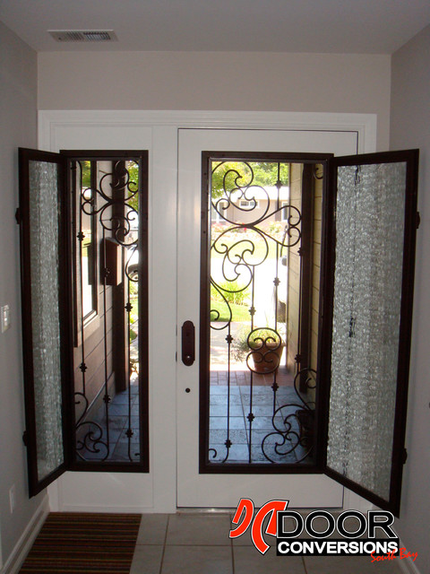 Wrought Iron Door Inserts Sonata Design Hinged Glass W
