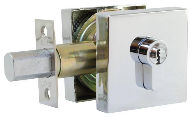 Square Deadbolt Key Key Contemporary Door Locks By