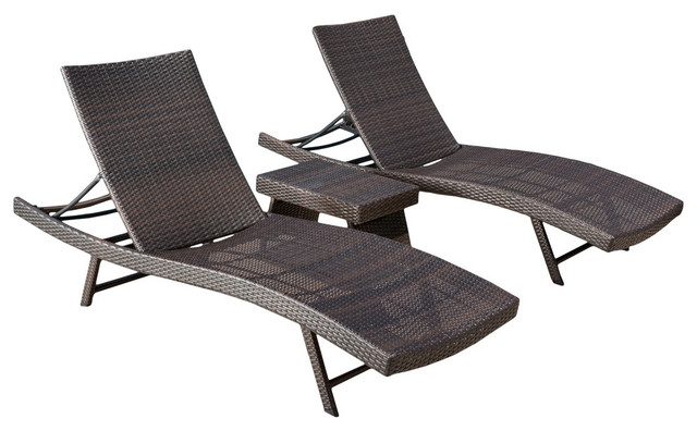 Hawthorne Wicker Chaise Lounge 3-Piece Set.