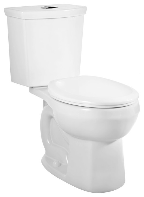 American Standard H2Option Siphonic Dual Flush Round Front Toilet, White