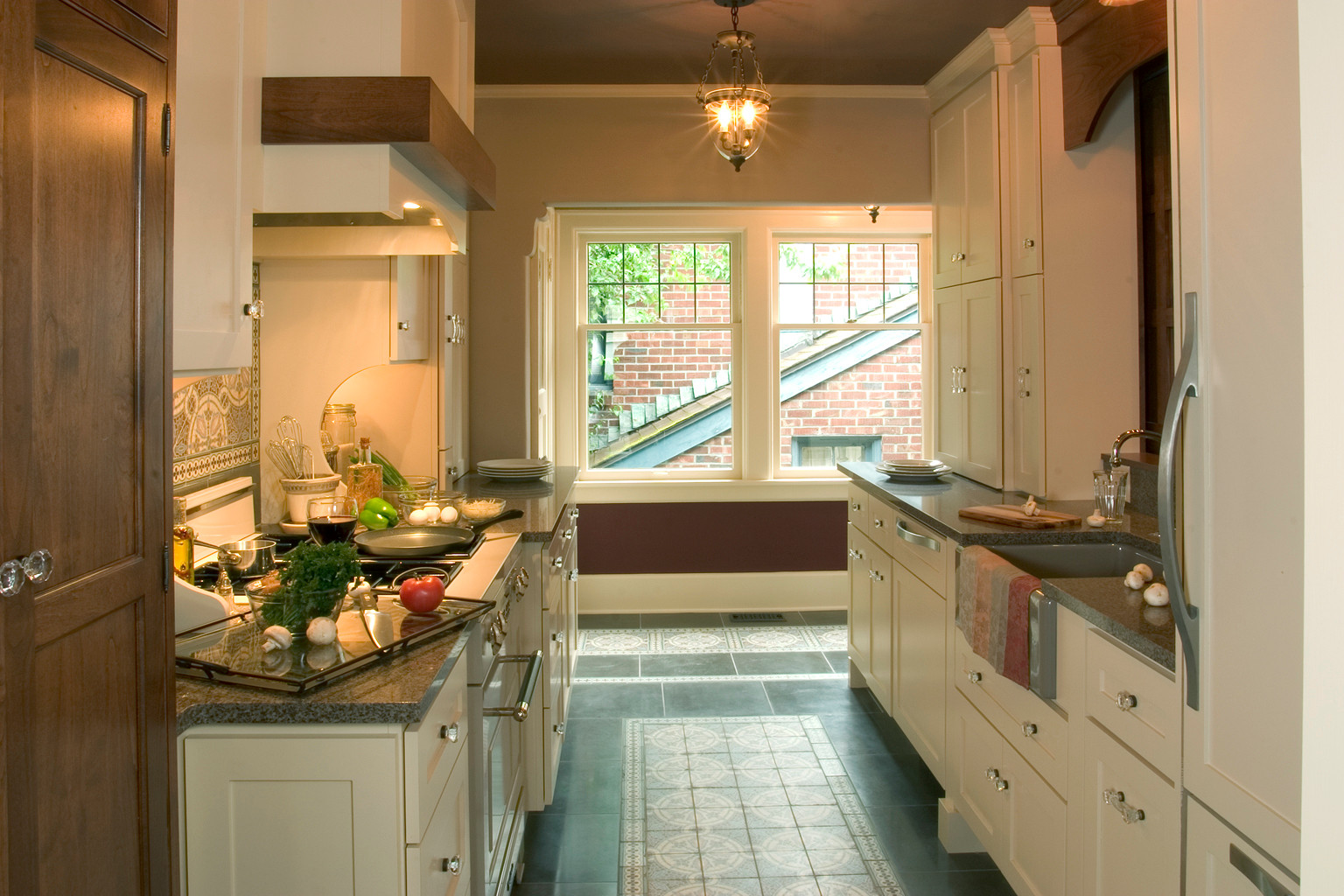Wallingford Tudor Galley Kitchen Remodel - Home Birth Year 1927