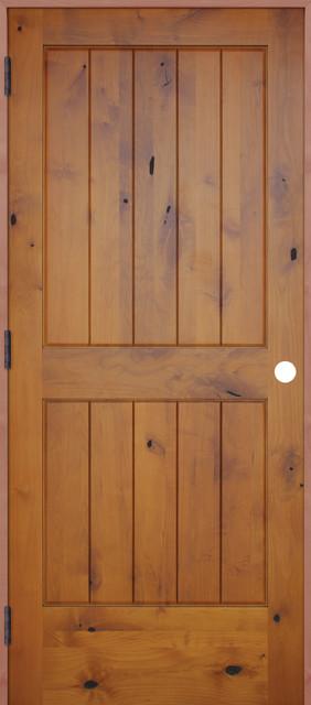 Interior 2 Panel V-Groove Reversible Handing Pre-hung Door Kit 18x80 interior & Interior 2 Panel V-Groove Reversible Handing Pre-hung Door Kit ... Pezcame.Com