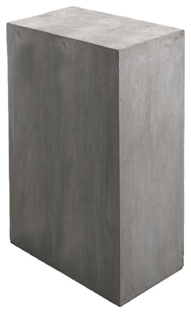 Newport Rectangular Concrete Outdoor Table Transitional Table - Concrete pedestal table base