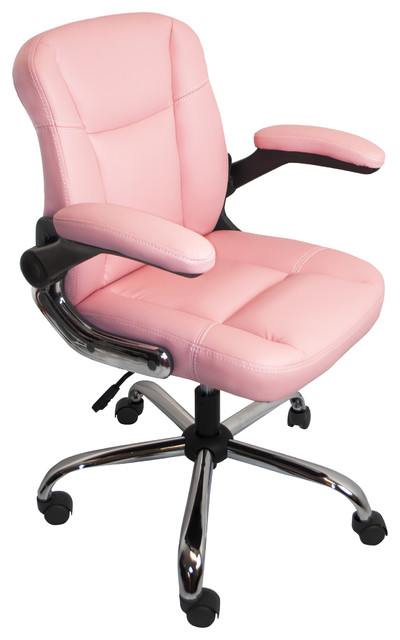 Beau ALEKO ALC2155PN Office Chair Ergonomic Computer Desk Chair PU Leather, Pink