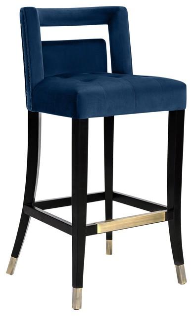 Marvelous Hart Navy Velvet Counter Stool Alphanode Cool Chair Designs And Ideas Alphanodeonline