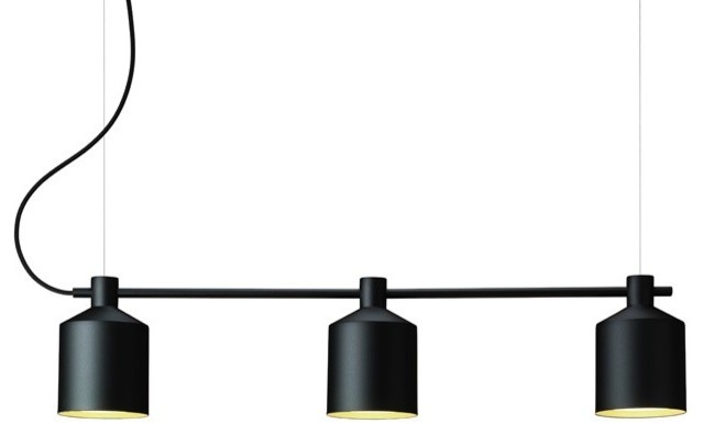suspension silo trio scandinave suspension luminaire par zero france. Black Bedroom Furniture Sets. Home Design Ideas