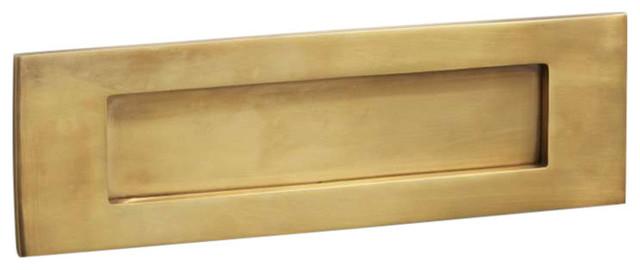 Letter Plate, 300mm, Antique Satin Brass