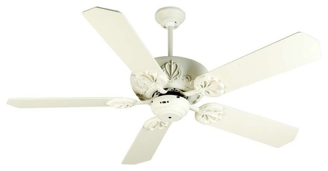 Craftmade Ceiling Fan, Antique White Cordova , 52 Antique White Blades.