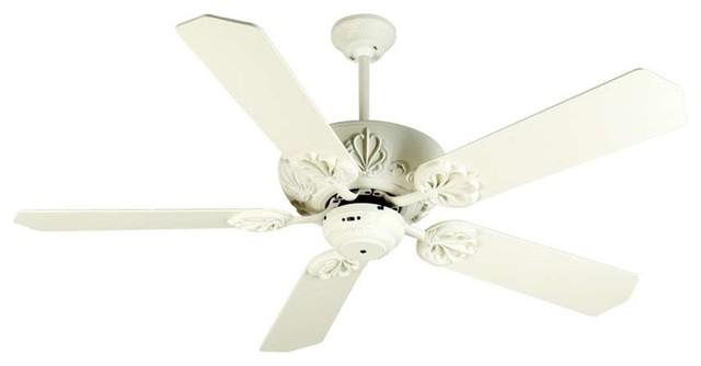 "Craftmade Ceiling Fan, Antique White Cordova , 52"" Antique White Blades."