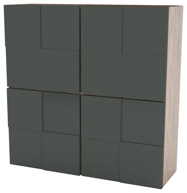 Scacco High Sideboard, Anthracite and Pine Finish