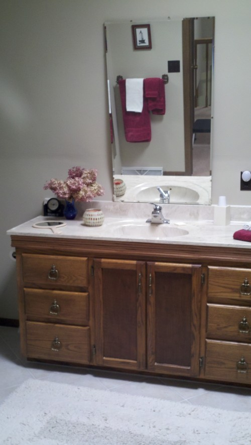 How To Put A Mirror On An Angled Wall Over A Bathroom Sink