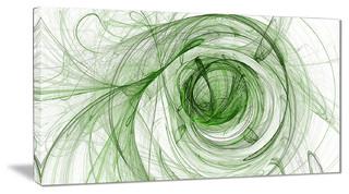"Ball of Yarn Green Spiral"" Abstract Digital Art Canvas Print ..."