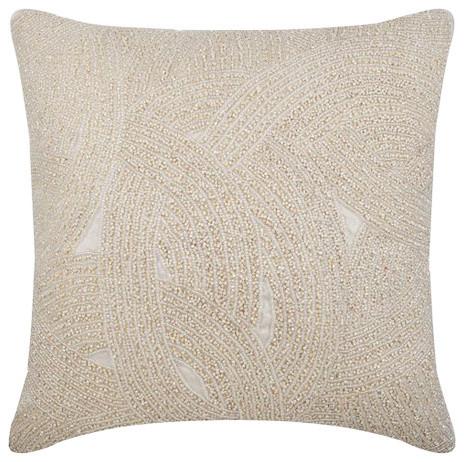 Galaxy Silk Decorative Cushion Cover, Ivory, 45x45 cm