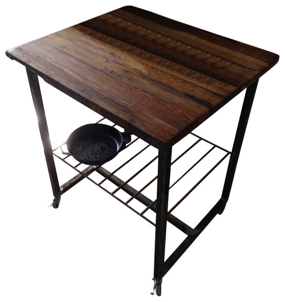 Reclaimed Butcher Block reclaimed wood kitchen island/butcher block built to order