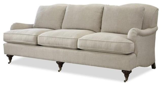 Churchill Upholstered Sofa, Linen