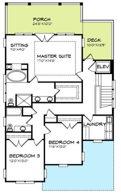 Inverted house plan or low country plan for Inverted house plans
