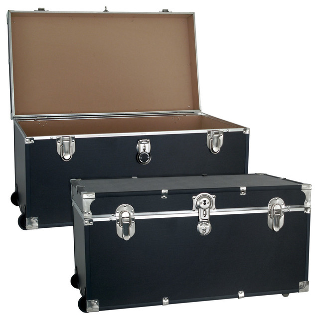 Seward Trunk Trooper 30 Quot Footlocker With Wheels Black