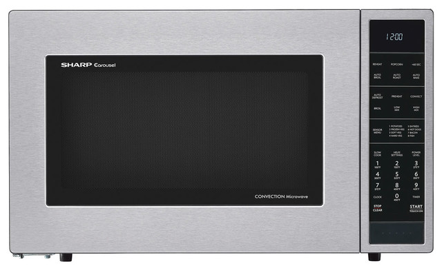 1.5 Cu. Ft. 900w Convection Microwave Oven, Stainless Steel.