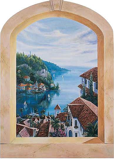 Mediterranean Villas Mural 20266.