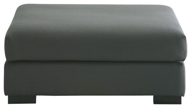 Pouf per divano grigio ardesia modulabile in cotone Terence ...