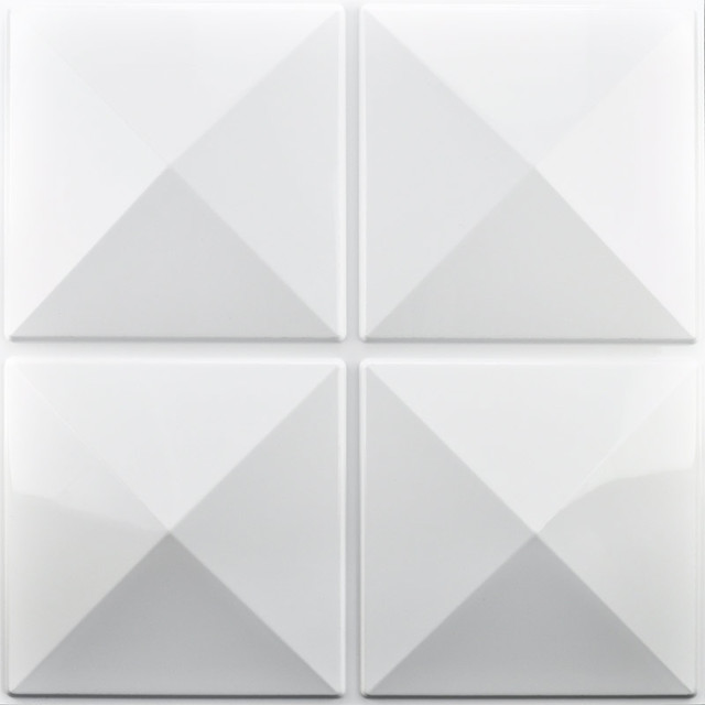 """20""""x20"""" Art3d Eco 3d Wall Panels Textured Design Board, White, Set Of 12."""
