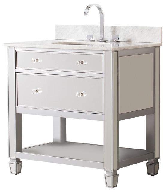 Paris Bath Vanity Sink With Marble Top Transitional