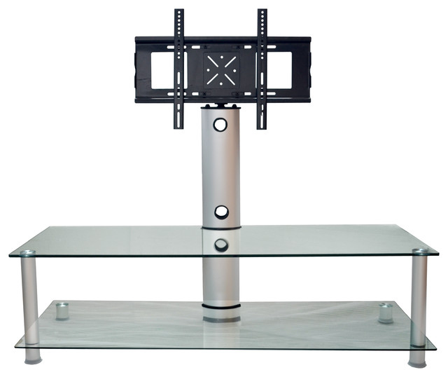 Clear Glass Plasma Lcd Tv Stand With Bracket