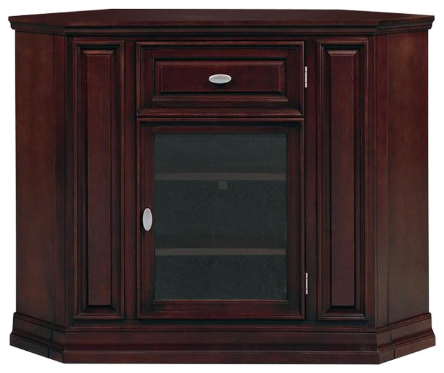 Leick Furniture Riley Holliday Tall 46 Corner Tv Stand Espresso Traditional Entertainment Centers And Stands By Homesquare