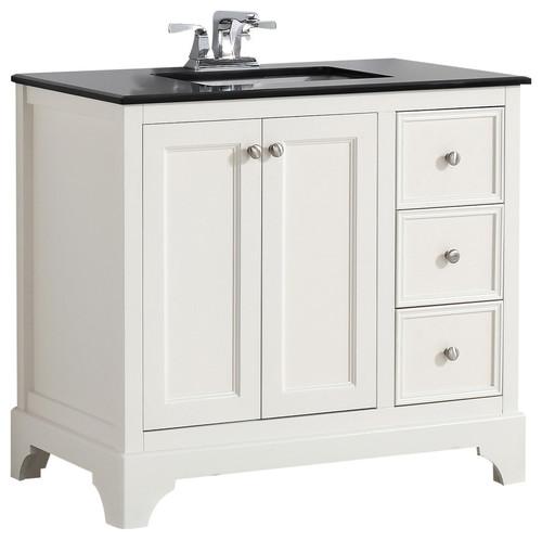 White Bathroom Vanities With Granite Tops