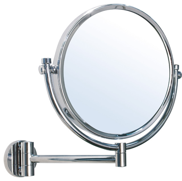 Br Wall Mounted Round 5x 1x Double Sided Cosmetic Makeup Magnifying Mirror